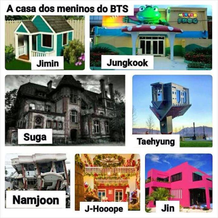 BTSメンバーの性格と特徴を表している画像